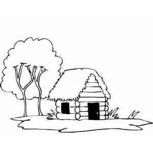 Abraham Lincoln A Printable Book Enchantedlearningcom Log Cabin Coloring Page