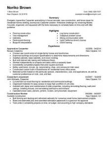 Carpentry Apprentice Sle Resume by Unforgettable Apprentice Carpenter Resume Exles To Stand Out Myperfectresume