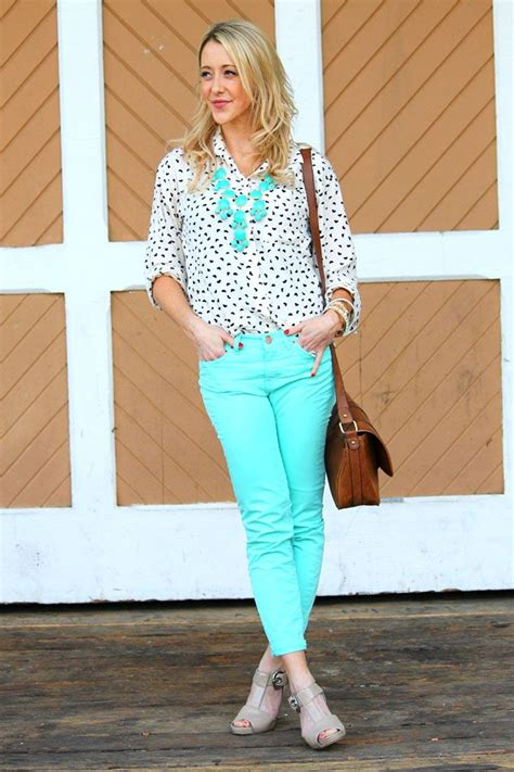 Blouse Kemeja Vanila Mint Denim 17 images about how to wear the button polka dot