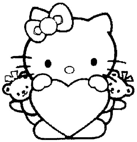 hello kitty coloring pages for valentines day 20 free printable hello kitty coloring pages printable