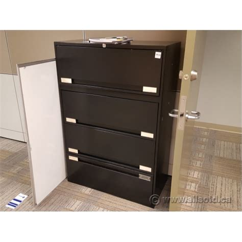 4 Drawer Locking File Cabinet by Black 36 Quot 4 Drawer Lateral Flip Front File Cabinet