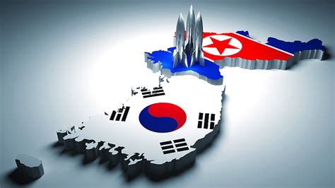 theme powerpoint korean background of the conflict north and south korea conflict