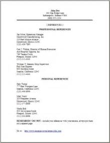 resume reference page occupational exles sles free