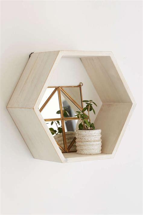 Honeycomb Wood Shelf Bee Yourself Wood Shelves Wood