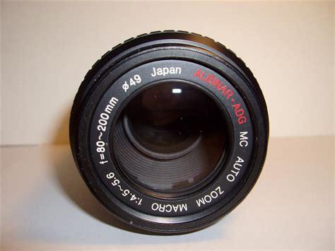 really big lights box of 5 albinar 80 200 f4 5 macro lens
