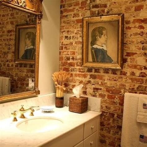 brick bathroom 25 chic bathrooms with brick walls