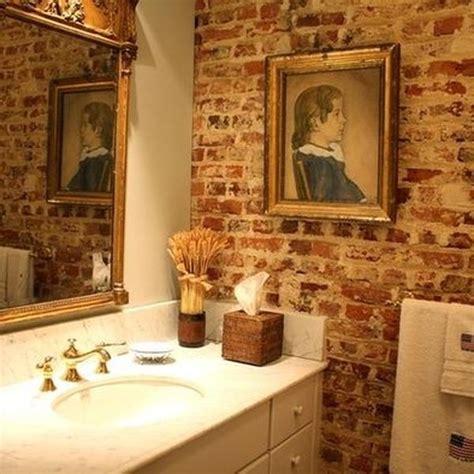 Bathroom Brick Wall by 25 Chic Bathrooms With Brick Walls