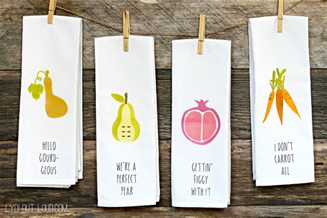 diy puns with puns diy kitchen towels lydi out loud