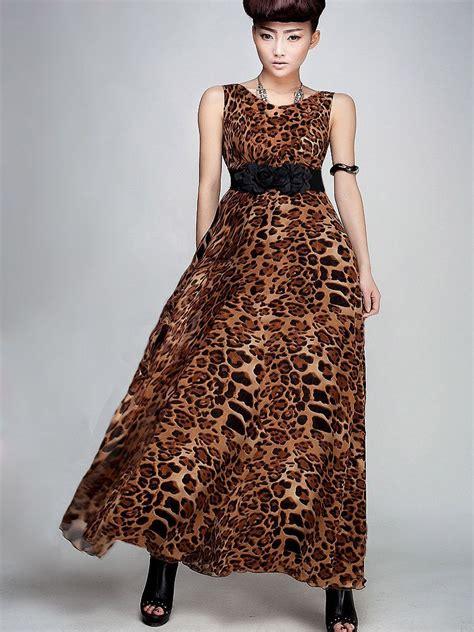 Maxi Dress Leopard modern leopard maxi dress with belt