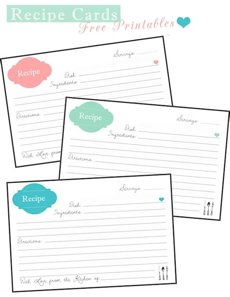 arakian oneway2 me recipe card template recipe cards free printable two delighted