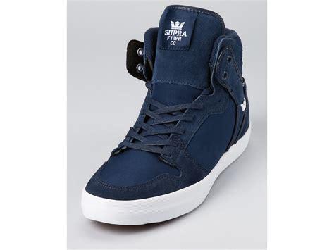 supra high top sneakers supra vaider high top casual sneakers in blue for
