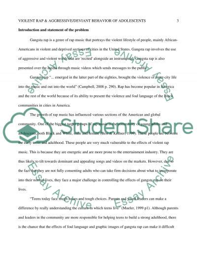 Rap Influence On Youth Essay by The Of Rap In Aggression Deviant Behavior In Essay