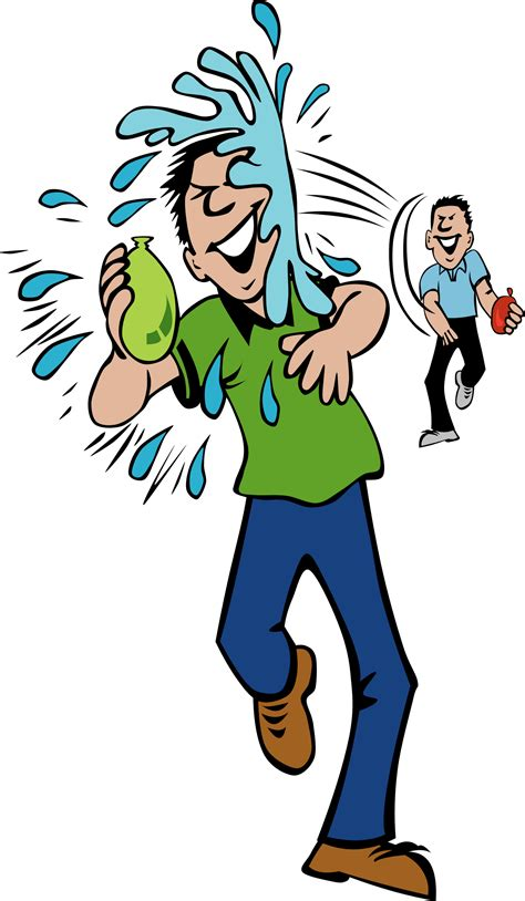 Clipart water fight