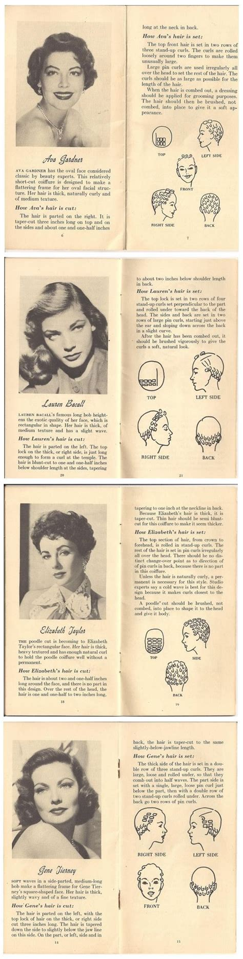 retro hairstyles book hair style glam movie star looks vintage 40s 50s book