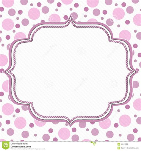 pink polka dot with frame background labs pink and white polka dot frame background stock
