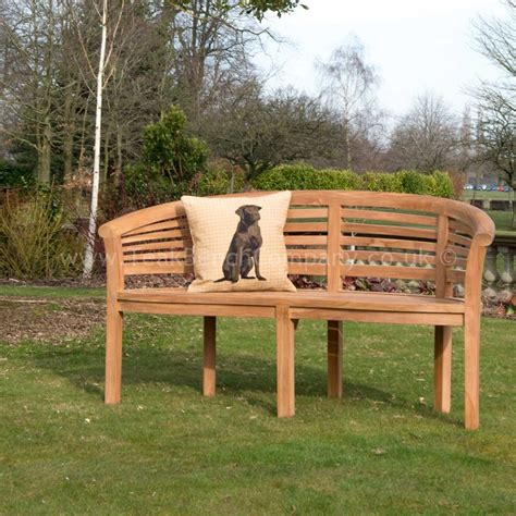 curved outdoor bench horizon curved banana garden bench 160cm