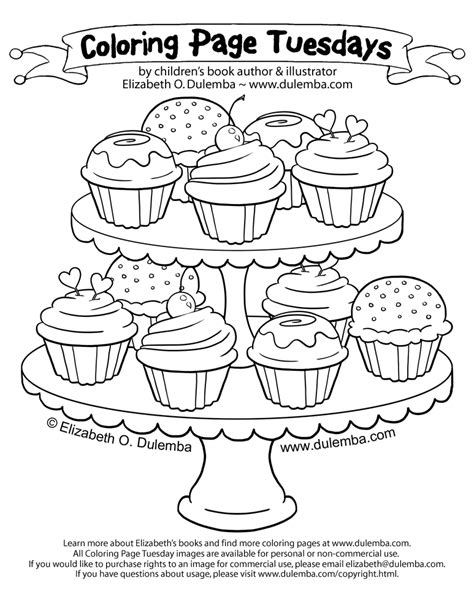 large cupcake coloring page coloring page tuesday tier of cupcakes