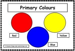 primary colors list visual arts seomra ranga