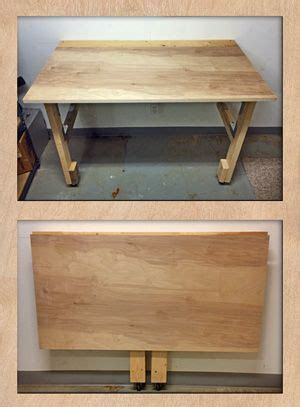 folding cutting table plans best 25 folding workbench ideas on