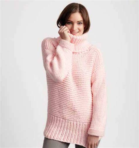 Easy Knit Turtleneck Sweater Pattern   chunky turtleneck easy sweater pattern allfreeknitting com