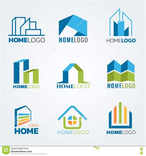 modern home design vector modern and art home logo vector set design stock vector image 71622641