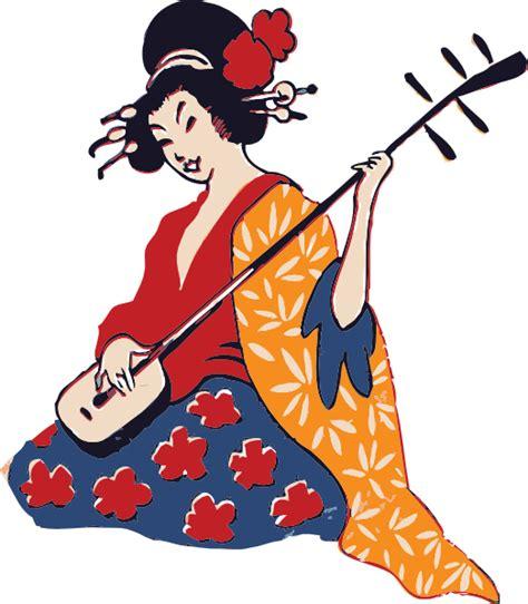 geisha clipart geisha shamisen clip at clker vector