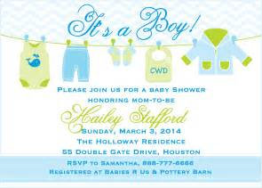 Baby Shower Templates For Boy by Free Baby Boy Shower Invitation Templates Theruntime