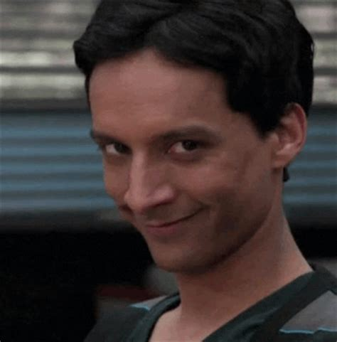 reaction gif tagged with flirting danny pudi abed nadir