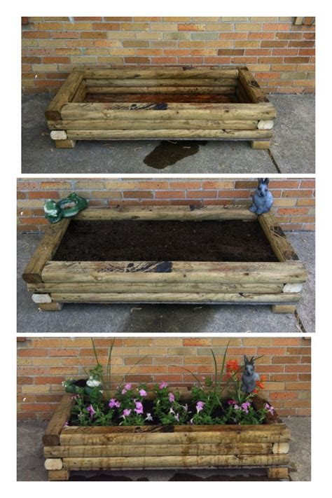 Landscape Timber Joining Our Home Project Diy Flower Bed 6 Landscaping Timbers