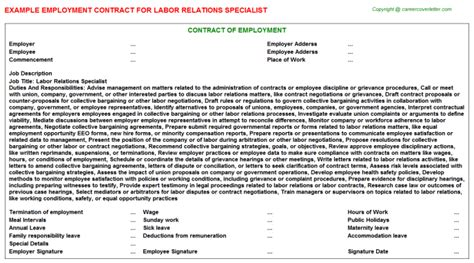 Labor Relations Specialist Cover Letter by Labor Relations Specialist Resume Onboarding Specialist Hr Specialist Resume Labor Relations