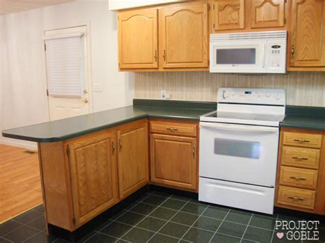 Crown Molding Kitchen Cabinets kitchen transformation white cabinets amp painted counters