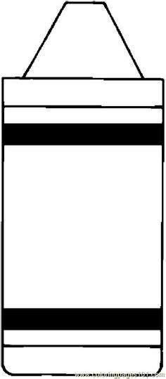 color crayon template printable first day art