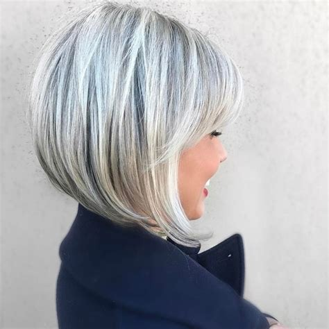 hair cuts for grey hair and round face the 25 best short gray hairstyles ideas on pinterest