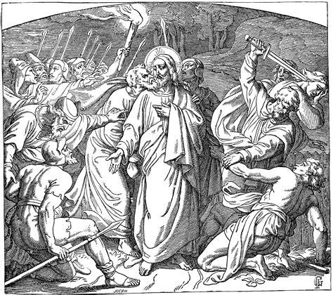 judas betraying jesus   kiss clipart