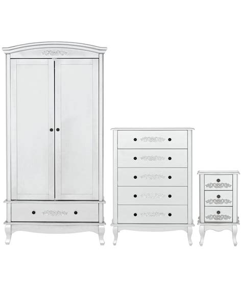 buy 3 2 door wardrobe package white at