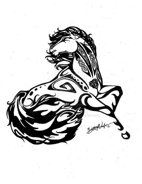 tattoo tribal dancer wind dancer custom horse tattoo by myownenchantment on