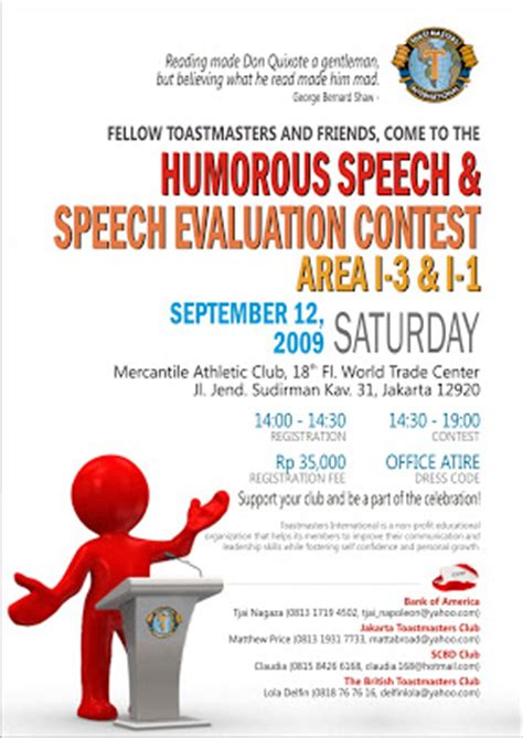 Humorous Speech Sles Toastmasters toastmasters club humorous speech speech