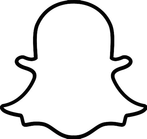 Ghost Clipart Outline by Snapchat Ghost Clipart Clipartxtras