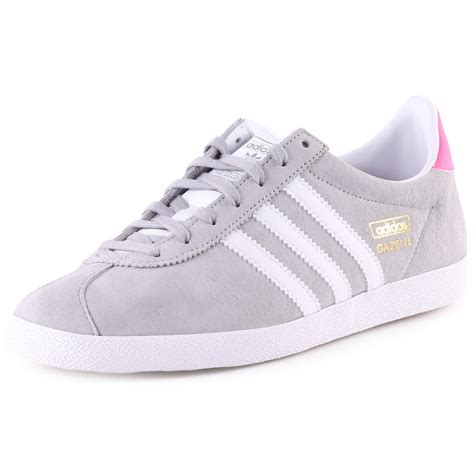 Adidas Grey adidas gazelle og womens trainers in light grey