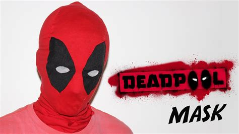 How Do You Make A Mask Out Of Paper - how to make a deadpool mask