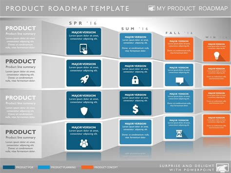 Four Phase Software Planning Timeline Roadmap Presentation Diagram Portfolio Management Product Presentation Template
