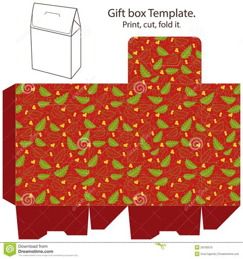 gift card package template gift box template stock vector illustration of package