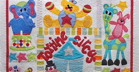 Circus Quilt by Quilts On Bastings Time Circus A Baby Applique Quilt