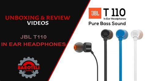 Headphone Jbl In Ear T110 Hitam Berkelas jual jbl in ear headphone t110 bass sound garansi