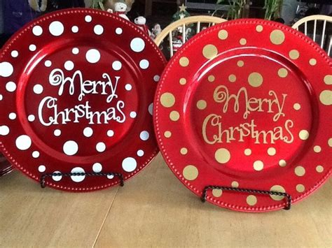 ideas for christmas plate designs charger plates madinbelgrade