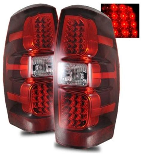 2007 chevy avalanche tail lights chevy avalanche 2007 2013 red and clear led tail lights