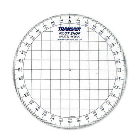 printable round ruler transair round navigation protractor