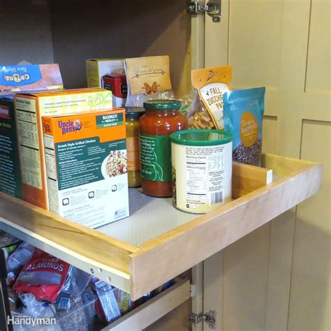 want to be organized use these pullout ideas renomania 11 no pantry solutions on a budget kitchen cabinet