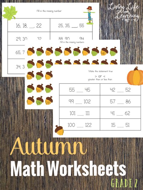 Free Fall Math Worksheets by Free Autumn Math Worksheets Free Homeschool Deals