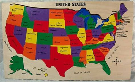 united states map your child learns us map puzzle state capitals learning states and